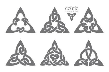 Nudo de trinidad celta de vector parte 1. Ornamento étnico. Diseño geométrico