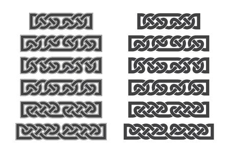 Vector celtic horizontal knot. Ethnic ornament. Geometric design.