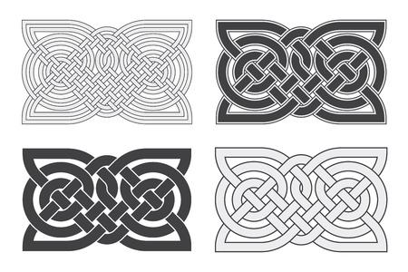 Vector celtic horizontal knot. Vektorové ilustrace