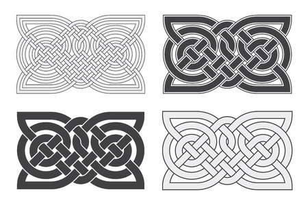 Vector Keltische horizontale knoop.