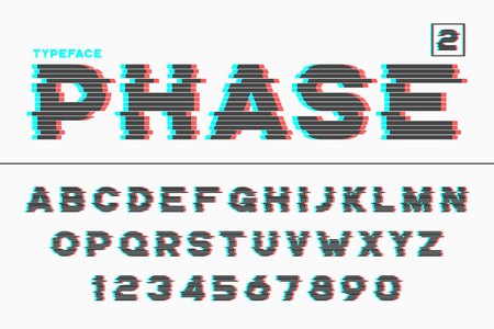 Vector decorative futuristic font design, alphabet, typeface.