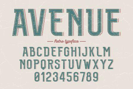Decorative vector vintage retro typeface, font, alphabet letters, typeface, typography design