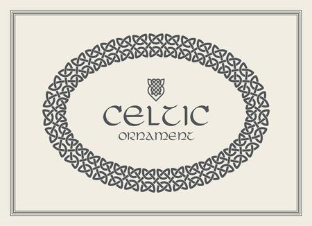 Ornamento di confine cornice intrecciata nodo celtico. Formato A4 Illustrazione vettoriale Archivio Fotografico - 89689537