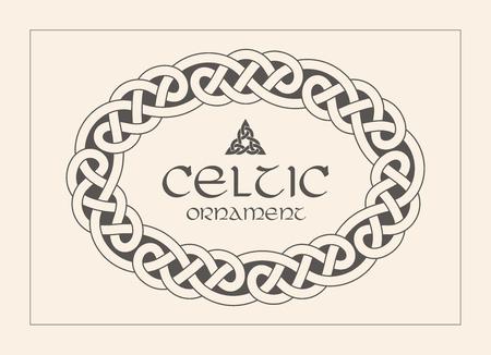 Keltischer Knoten geflochtener Rahmengrenzverzierung. A4-Größe. Vektor-illustration Standard-Bild - 89747819