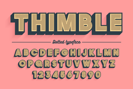 Decorative vector vintage retro typeface, font, typeface