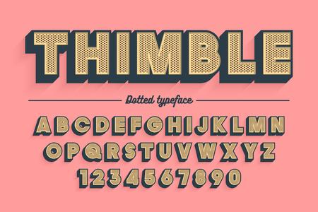 Decorative vector vintage retro typeface, font, typeface Banco de Imagens - 90545376