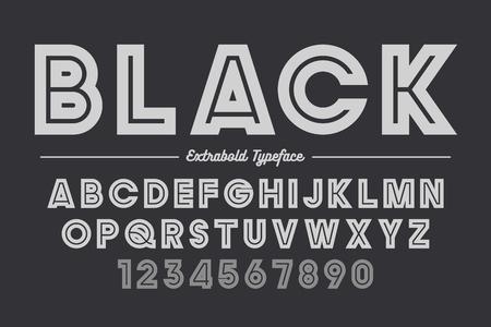 大胆な余分なベクター装飾的な大胆なフォント, アルファベット, typefac  イラスト・ベクター素材