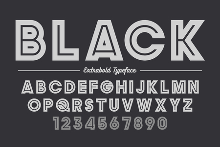 Extra Bold vector decorative bold font design, alphabet, typefac
