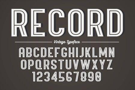 Vector decoratief gewaagd lettertypeontwerp, alfabet, lettertype, typografie