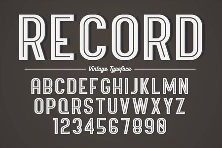 Vector decorative bold font design, alphabet, typeface, typography Archivio Fotografico