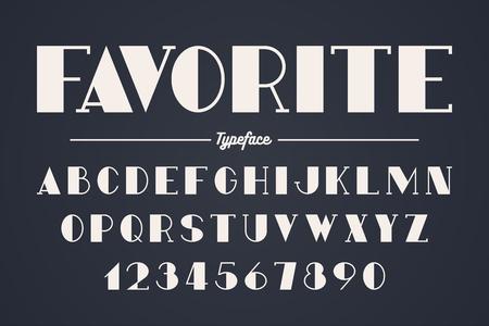 Vanguard vector decorative bold font design, alphabet. Color swatches control
