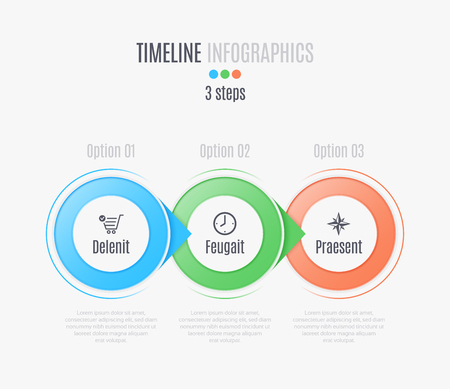 Three steps infographic timeline, presentation, report, web design layout