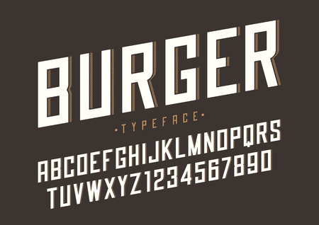 Burger vector retro regular font design