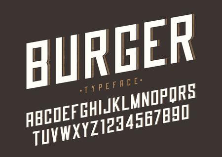 Burger vector retro regular font design