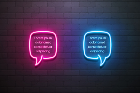 Neon light speech bubble promotion banner, price tag, discount. Swatch color super control