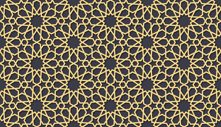 Seamless pattern in authentic arabian style. Color watches control. Vector illustration