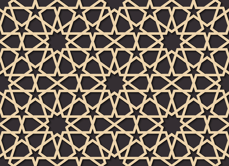 Seamless pattern in authentic arabian style. Color watches contr Ilustração