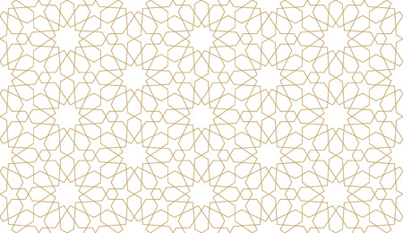 Seamless pattern in authentic arabian style. Vector illustration