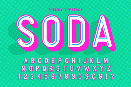 Soda design typeface lettering vector illustration