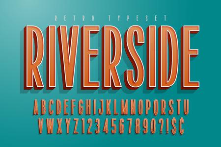 Condensed comical 3d display font design, alphabet