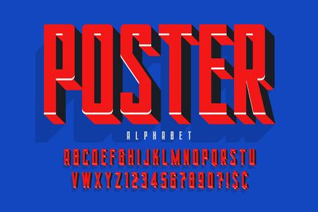 Protest display font design, alphabet, character set