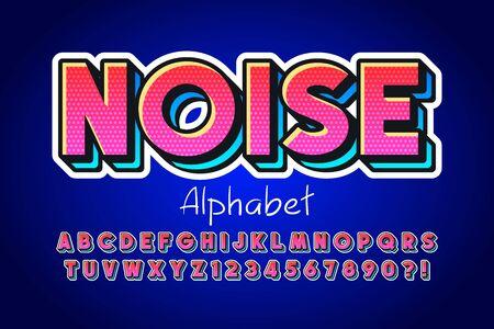 Colorful 3d display font design, alphabet, letters Ilustração Vetorial