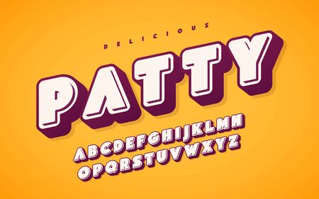 Cool and funny english alphabet letters. Vector illustration  イラスト・ベクター素材