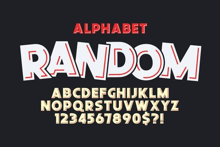 Flat extra bold bubble comical type design