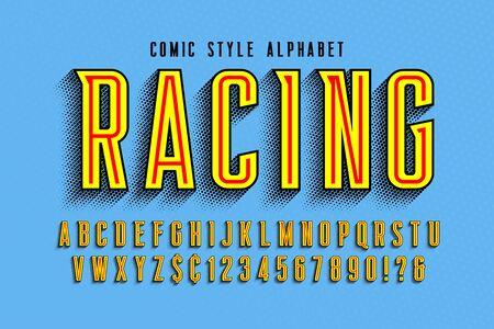 Trendy 3d comical letters design, colorful alphabet Foto de archivo - 136982220