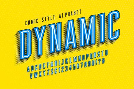 Trendy 3d comical letters design, colorful alphabet Foto de archivo - 136982224