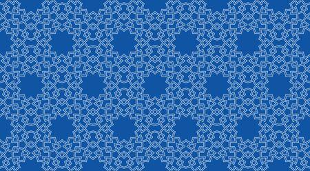 Seamless pattern background in authentic arabian style. Foto de archivo - 136982256