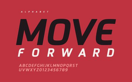 Vector modern stylish sans serif vector alphabet, font, typeface Foto de archivo - 137824441
