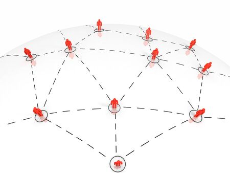 Global Communication and Network Concept. 3d image.
