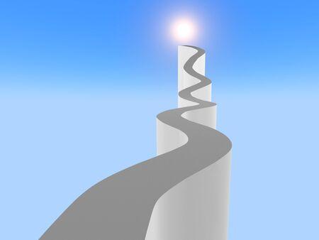Path to Success Concept. 3d image.