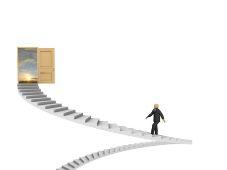 A 3d image of businessman making his way to success. Stock Photo - 10988682