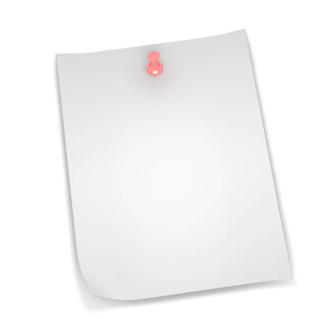 A 3d image of stocky note on white background.