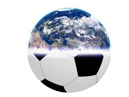 An abstract image representing world football - soccer.