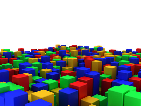 3D image of box abstract background