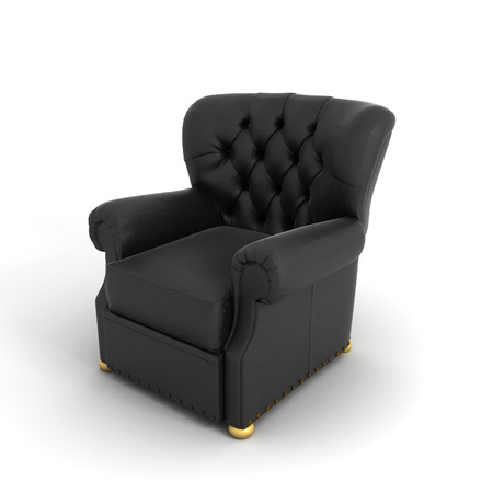3D image of chair on white background.