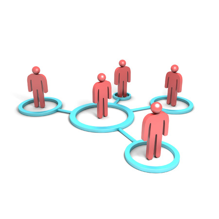 3D image of social network. Stock Photo