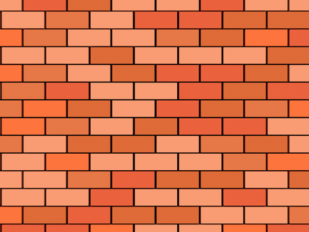 3D image of blank brick wall background. Stock Photo