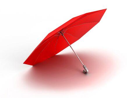 3D image of umbrella, on white background. Stock Photo