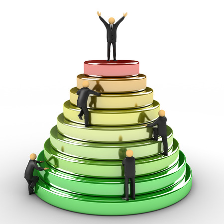 3D image of pyramid which represents the path to success
