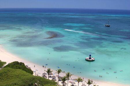 sailer: Palm beach on Aruba island