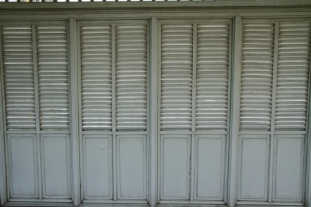 louver boards: A old wooden wall and louver Stock Photo