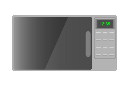 Microwave isolated on white background. Vector illustration Ilustrace
