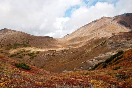 kamchatka: Autunno paesaggio tra le montagne della Kamchatka