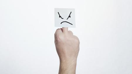 foda: dedo medio con una cara enojada pegatina