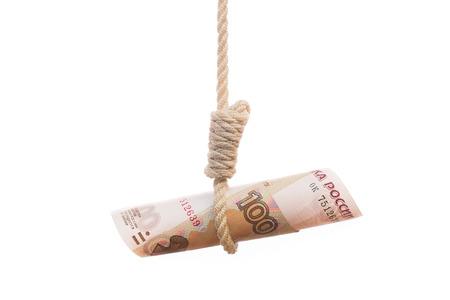 ahorcado: rublo simbolizaci�n verdugo caer econom�a rusa