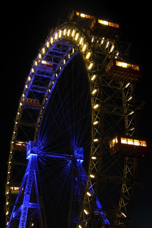 Vienna giant ferris wheel in Prater photo
